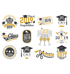 Class of 2019 badge vector