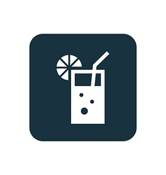 cocktail icon Rounded squares button vector image
