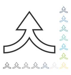 Connection arrow up icon vector