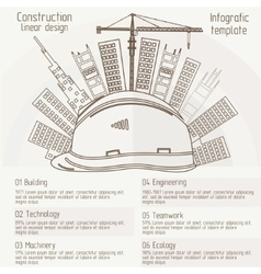 construction linear design vector image