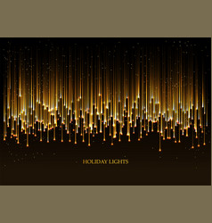 Curtain golden particles on a black background vector