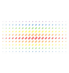 dna spiral spectral halftone array vector image