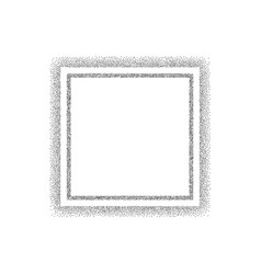 dotted black square frame vector image