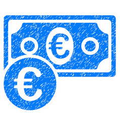 Euro cash money grunge icon vector