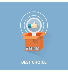 flat design shopping concept and the best vector image