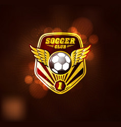 football soccer club logo design template vector image