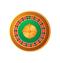Gambling icon round table roulette object vector