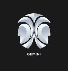 Gemini Horoscope Icon vector image