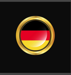 germany flag golden button vector image