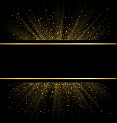 gold lines on black background golden glow vector image