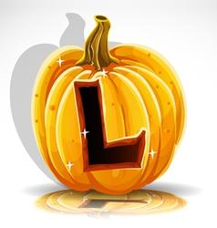 Halloween Pumpkin L vector image vector image