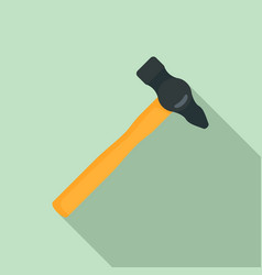 hammer tool icon flat style vector image