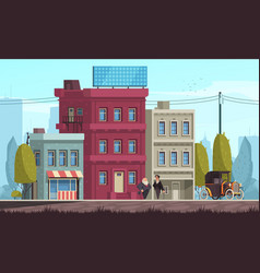 Housing architecture vector