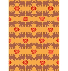 Indian elephant orange background vector