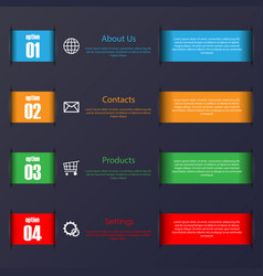 Infographic stripes set vector