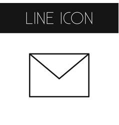 Isolated envelope outline letter element vector