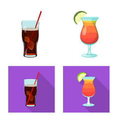 Isolated object of drink and bar symbol vector