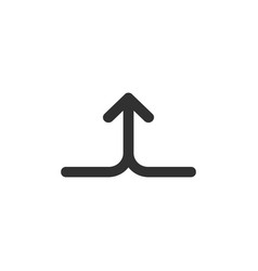merge join arrows up linear icon isolated on vector image