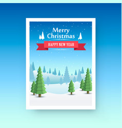 merry christmas cover art vector image