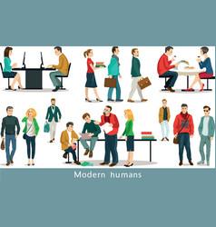 modern humans vector image