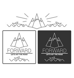 Modern monochrome labels set with inscriptions vector