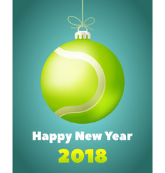new year tennis ball for the year of the dog vector image
