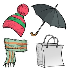 objects of clothes vector image