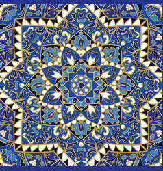 Ornate blue pattern vector