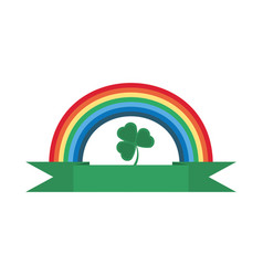 Rainbow clover ornament st patricks day vector