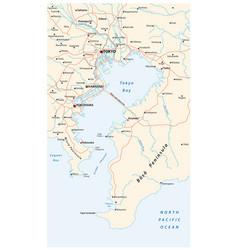 Road map bay tokyo vector