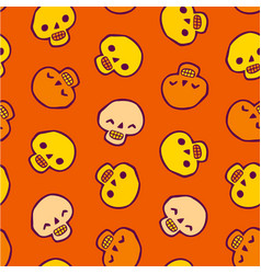 Seamless infinite background with skulls vector