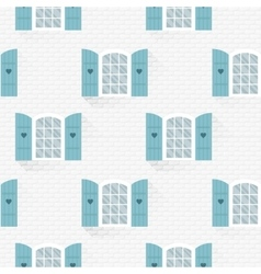 seamless pattern with windows in flat style vector image