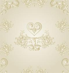 Seamless texture festive background heart vector