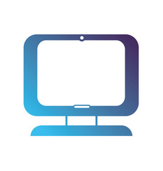 Sihouette computer digital screen equipment vector