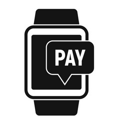 Smartwatch nfc payment icon simple style vector