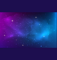 space background with bright shining stars vector image