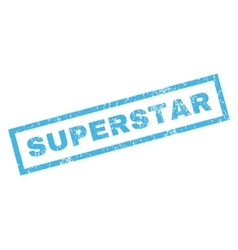 Superstar Rubber Stamp vector