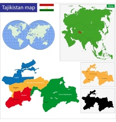 Tajikistan map vector