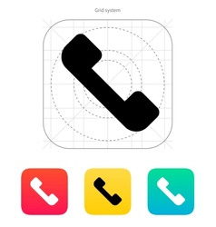 Telephone receiver icon Answer the call vector image