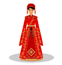 Traditional chinese bride vector