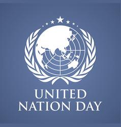 united nation day letter background vector image