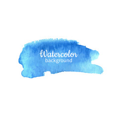 watercolor blue abstract hand painted background vector image