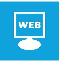 WEB monitor icon vector image