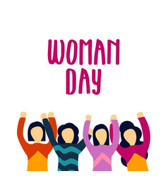 Woman day template design vector