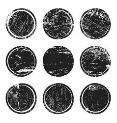 black grunge texture circles vector image vector image