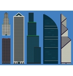 Buildings set with business skyscrapers vector image
