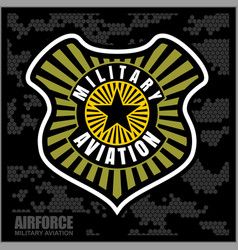 fighter squadron airforce - military aviation vector image