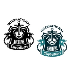 Marine international shipbuilders banner vector