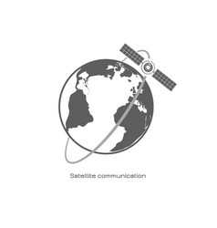 satellite communication icon vector image vector image