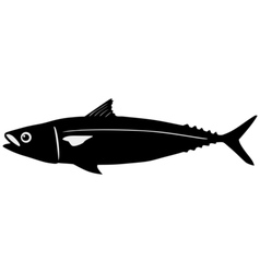 Silhouette of mackerel vector image vector image